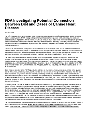 FDA 1st publication